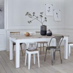 Table en bois d'acajou et teck LONDRES 180 cm