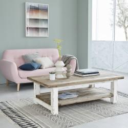 Table basse en bois de pin recyclé ATLANTIC 140 cm