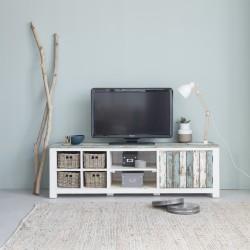 Meuble TV en bois de pin recyclé ATLANTIC 180 cm