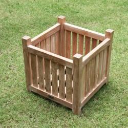 Jardinière en bois de teck MIDLAND 45 cm