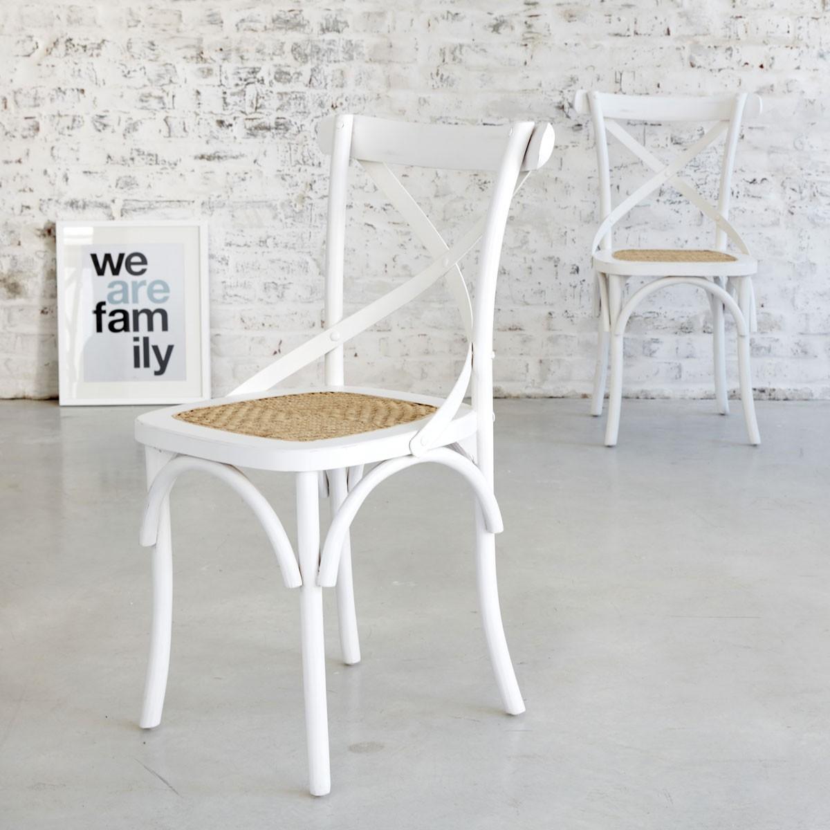 lot de 2 chaises bistrot en bois d 39 acajou et rotin londres bois dessus bois dessous. Black Bedroom Furniture Sets. Home Design Ideas