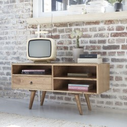 table basse en bois de mindy 130 fifties bois dessus bois dessous. Black Bedroom Furniture Sets. Home Design Ideas