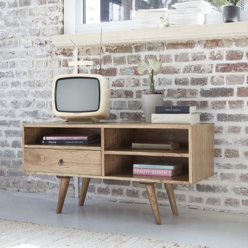 Meuble TV en bois de mindy 110 cm OSLO