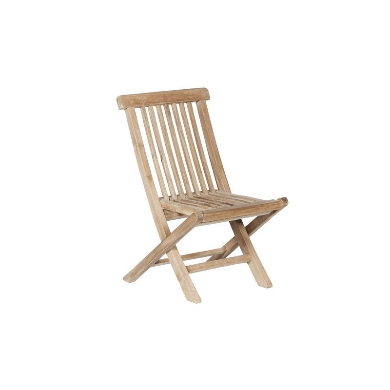 Chaise de jardin enfant en bois de teck MIDLAND