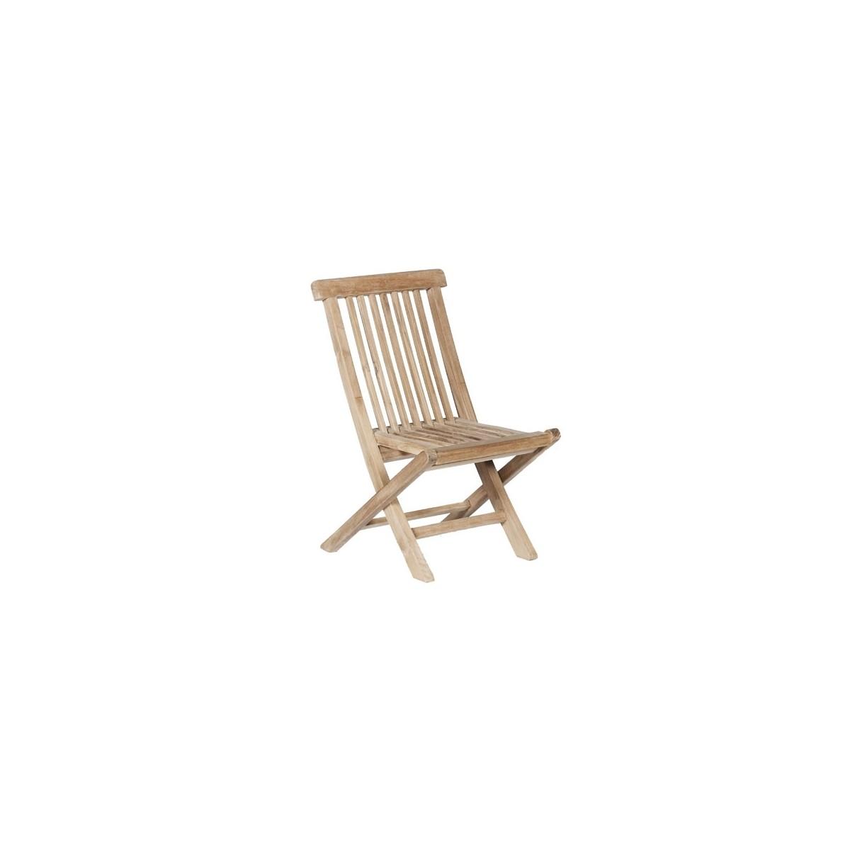 Chaise de jardin enfant en bois de teck midland bois for Chaise de jardin bois