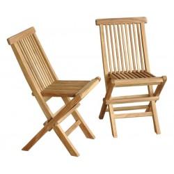 Lot de 2 chaises pour enfant en bois de teck MIDLAND