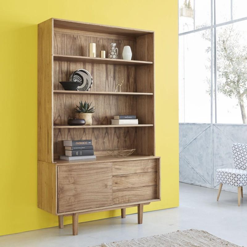 bibliothèque en bois de mindy FIFTIES 120 cm