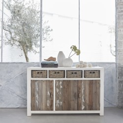 Buffet en bois de pin recyclé ATLANTIC 143 cm