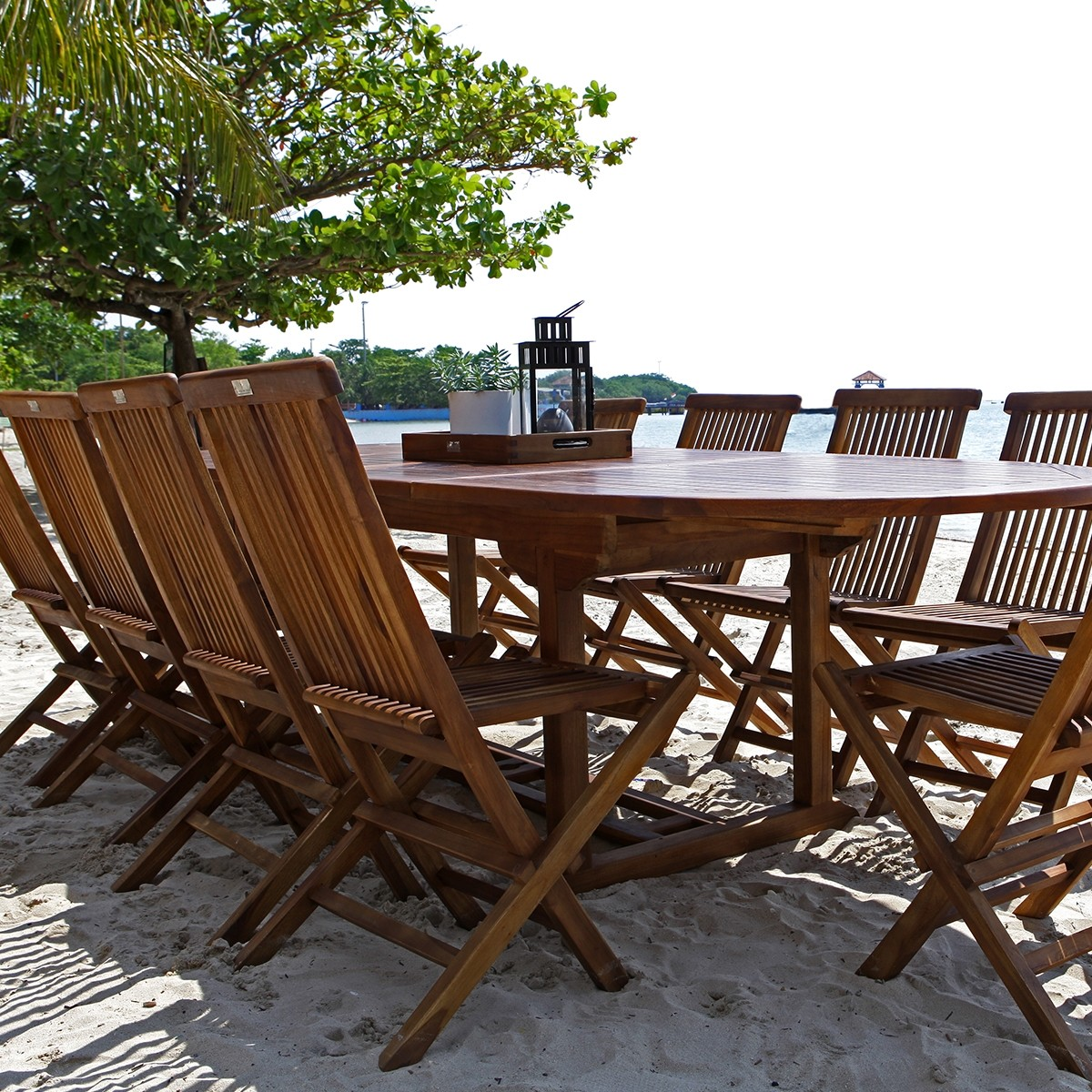 Teck Huil. Fabulous Table De Jardin En Teck Huil Places Lombok With ...