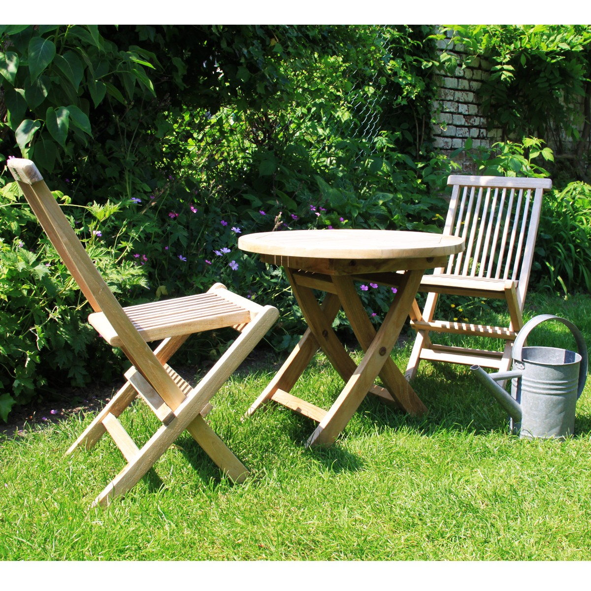 salon de jardin pour enfant en bois de teck midland - bois dessus