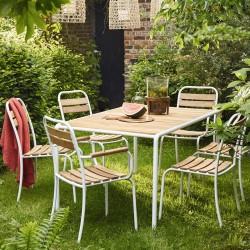 Salon de jardin  en bois et métal
