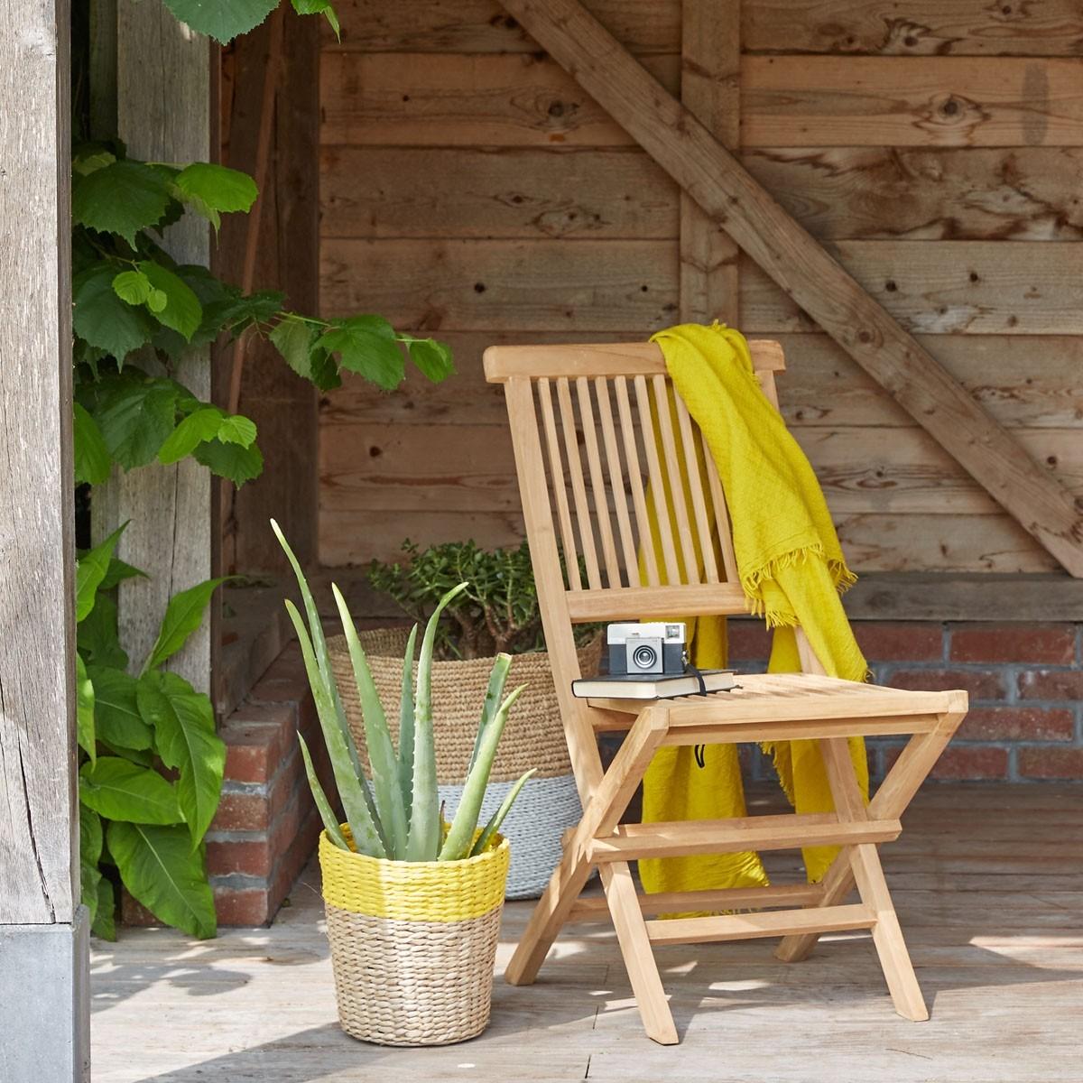 Chaise en bois de teck