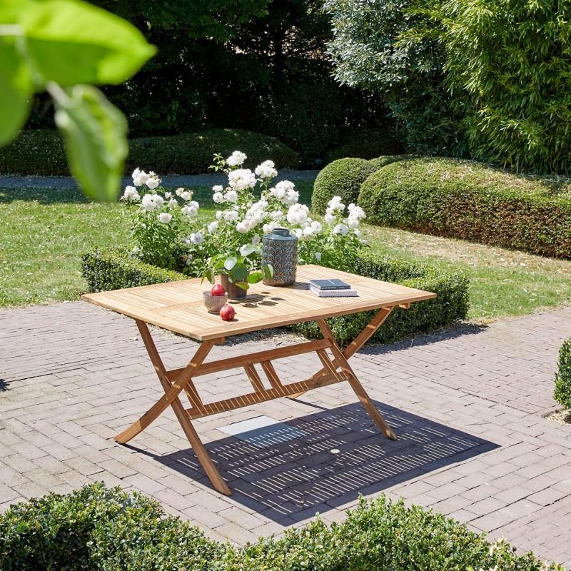 Table pliante en bois d'acacia