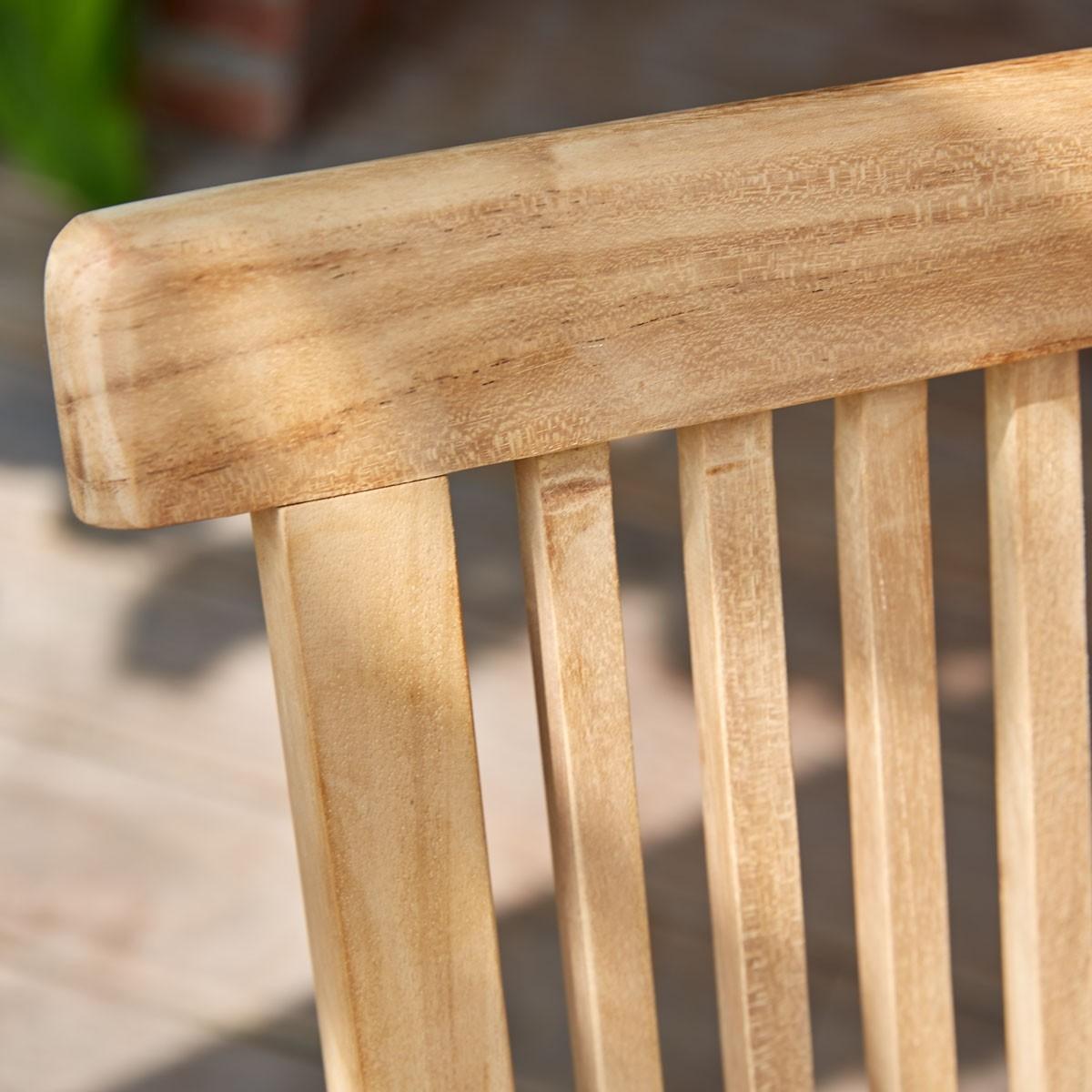 Chaise en bois de teck bois dessus bois dessous - Dessus de chaise en bois ...