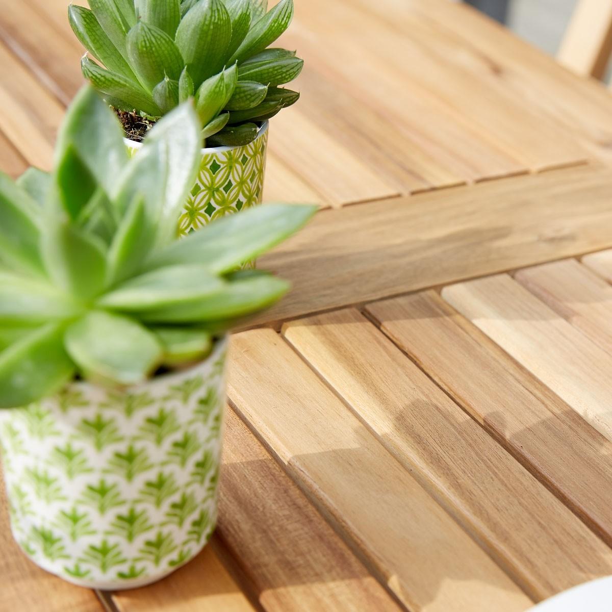 salon de jardin en bois d 39 acacia fsc gris 2 places hano. Black Bedroom Furniture Sets. Home Design Ideas