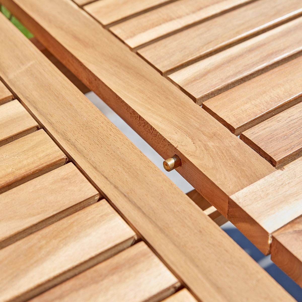 Salon de jardin en bois d\'acacia FSC extensible 6/8 places   Bois ...