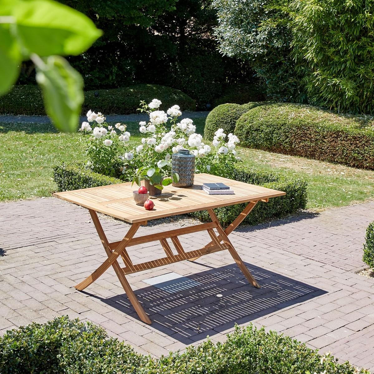 Salon de jardin en bois d\'acacia FSC gris 4 places HANOÏ ...