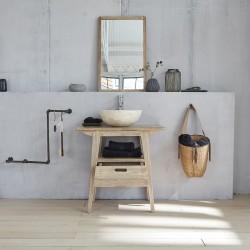 Meuble de salle de bain en bois d'hévéa 70