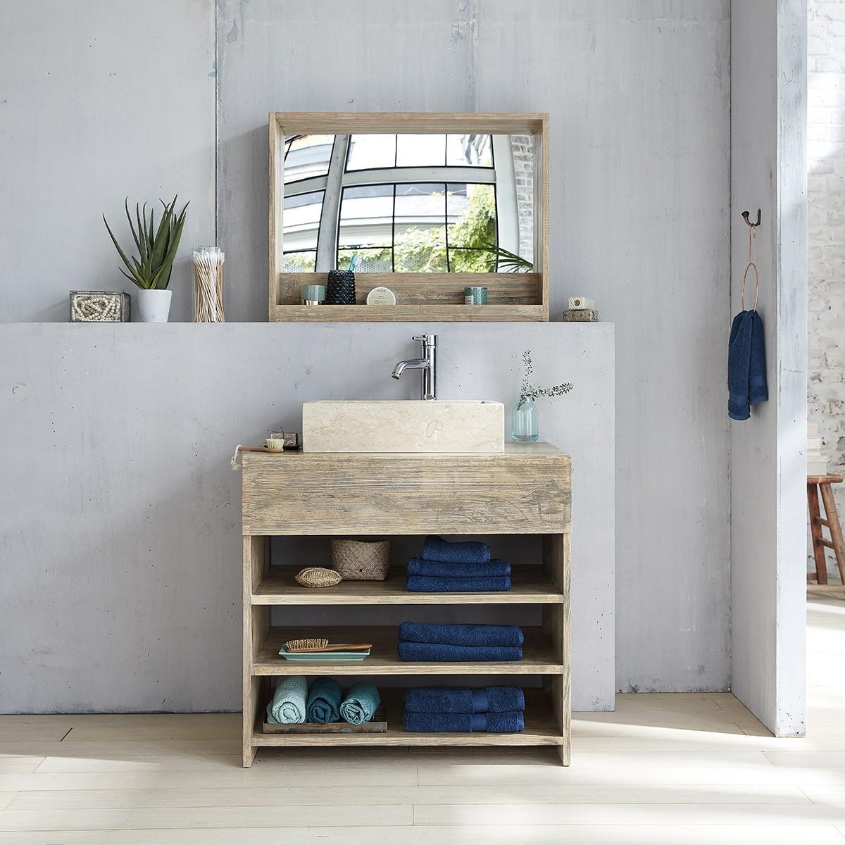 Meuble de salle de bain en bois d 39 h v a 80 bois dessus bois dessous - Destockage meuble salle de bain bois ...