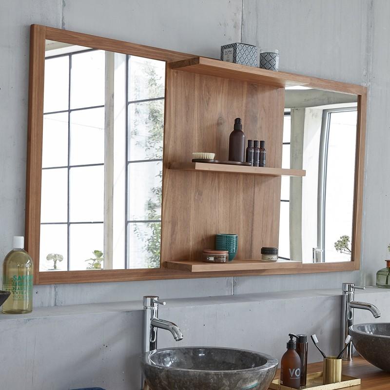 miroir en bois de teck 160 bois dessus bois dessous. Black Bedroom Furniture Sets. Home Design Ideas