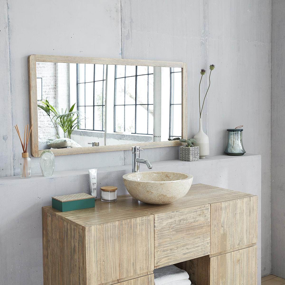 Miroir de salle de bain en bois de teck - Bois Dessus Bois Dessous