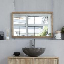 Miroir rectangulaire en bois d'hévéa 80