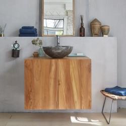 Meuble de salle de bain en bois de teck 80 cm