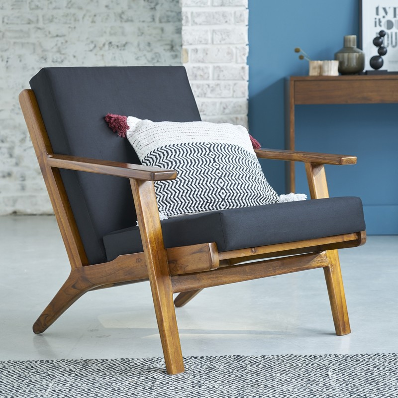 fauteuil scandinave teck vintage bois dessus bois dessous. Black Bedroom Furniture Sets. Home Design Ideas