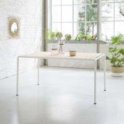 Table en bois d'acacia FSC et métal 150