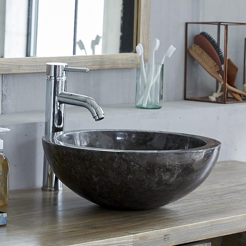 Vasque en marbre noir