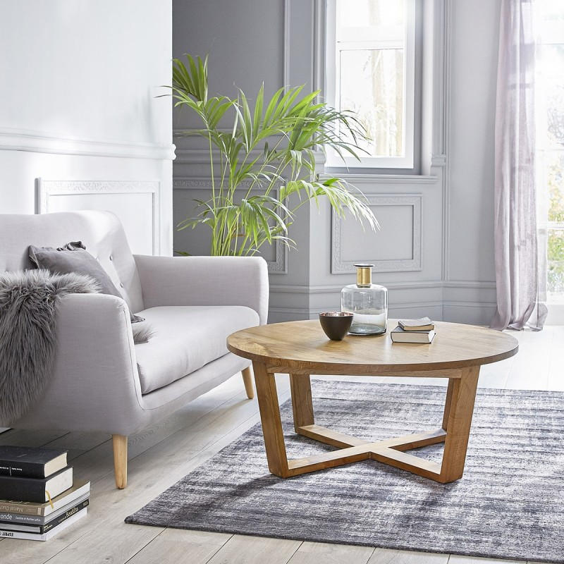 Table basse ronde en bois de mindy 100 OSLO