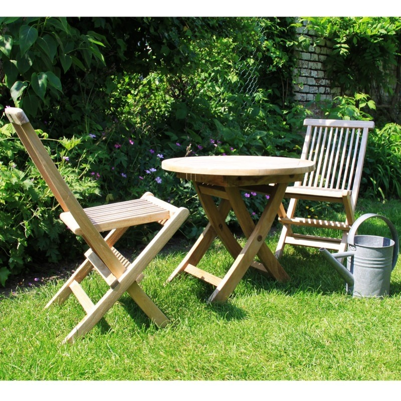 Table de jardin enfant en bois de teck MIDLAND