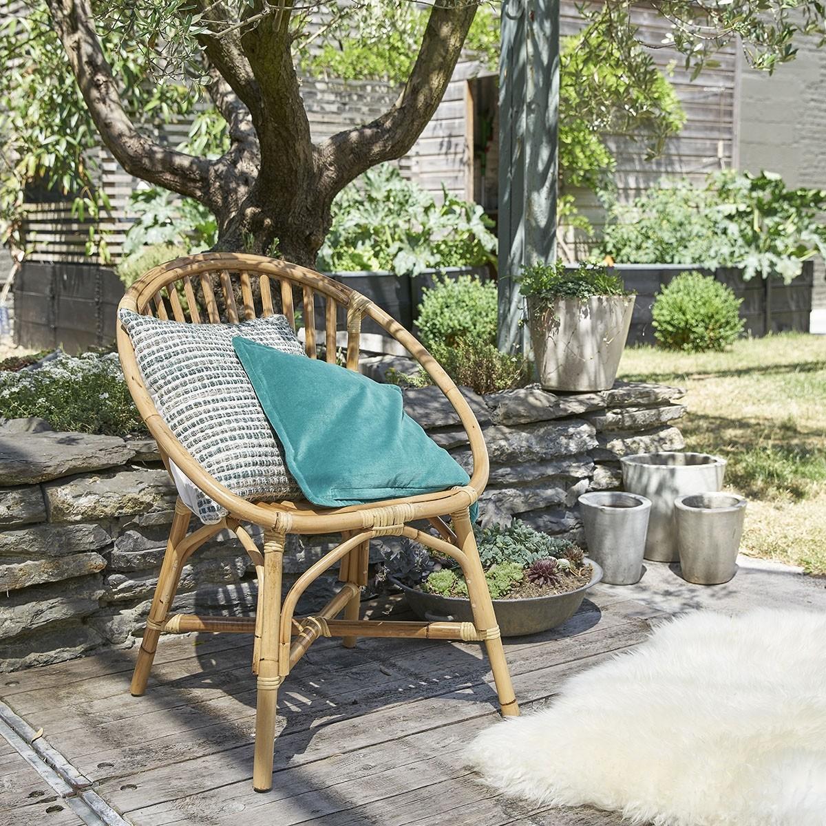 lot de 2 fauteuils en rotin vintage bois dessus bois dessous. Black Bedroom Furniture Sets. Home Design Ideas