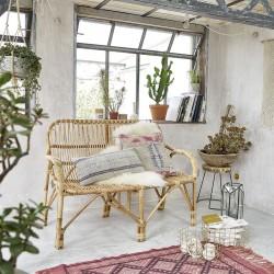 Canapé en rotin vintage