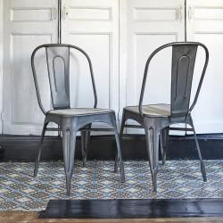 Lot de 2 chaises métal