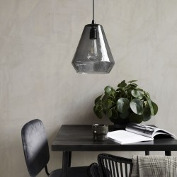 Suspension en verre Gris