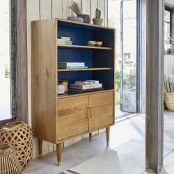 Bibliothèque peinte vintage en bois de mindy FIFTIES