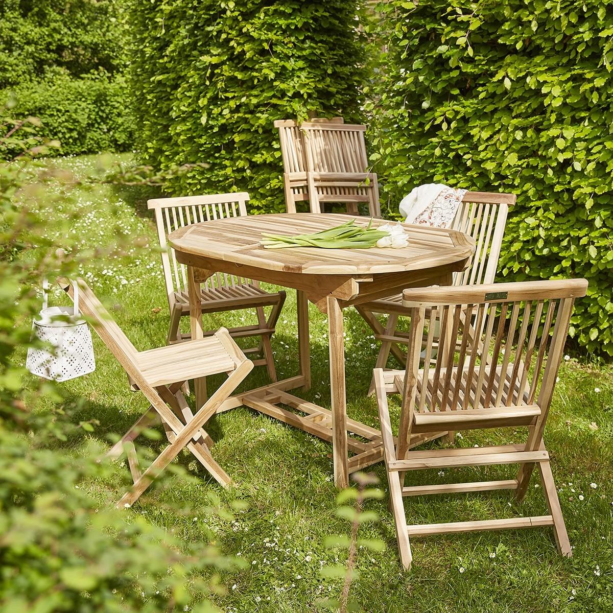 Salon de jardin en teck brut 6 places | Bois Dessus Bois Dessous