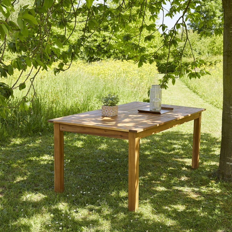 Table en bois d'acacia FSC 8 à 10 places