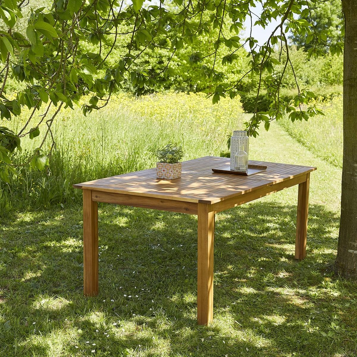 salon de jardin en bois d 39 acacia fsc extensible 8 10 places bois dessus bois dessous. Black Bedroom Furniture Sets. Home Design Ideas