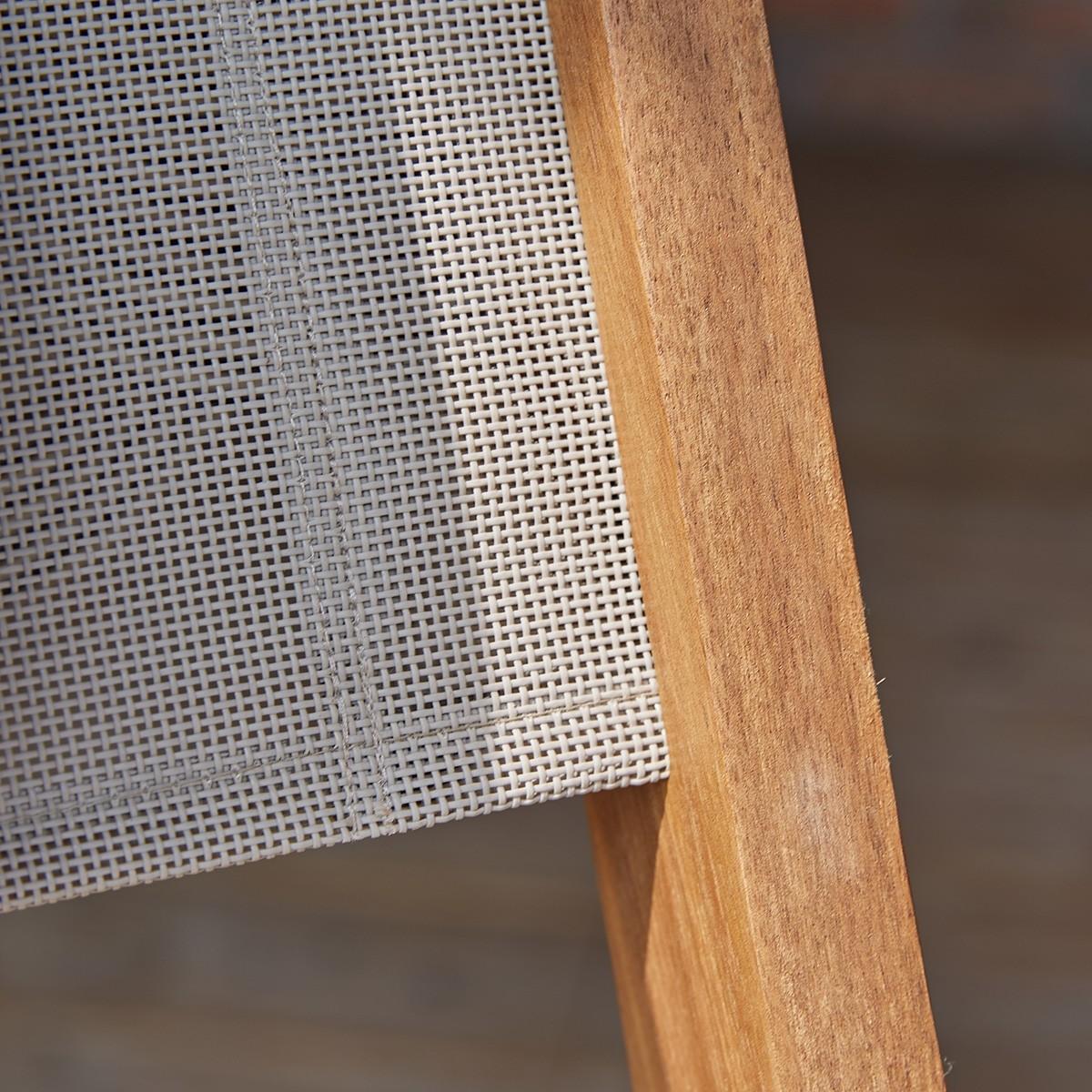 salon de jardin en bois d 39 acacia fsc gris rallonge 6 8. Black Bedroom Furniture Sets. Home Design Ideas