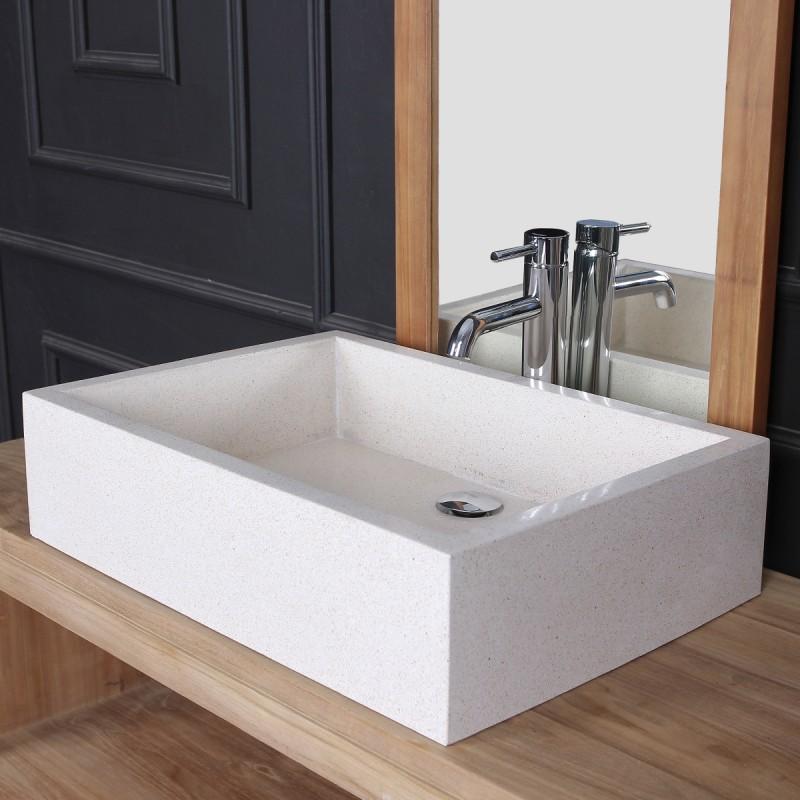 Vasque rectangulaire blanc