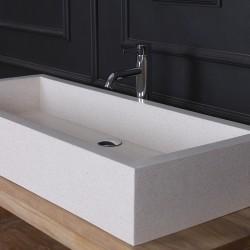 Vasque rectangulaire Terrazzo Resin blanc