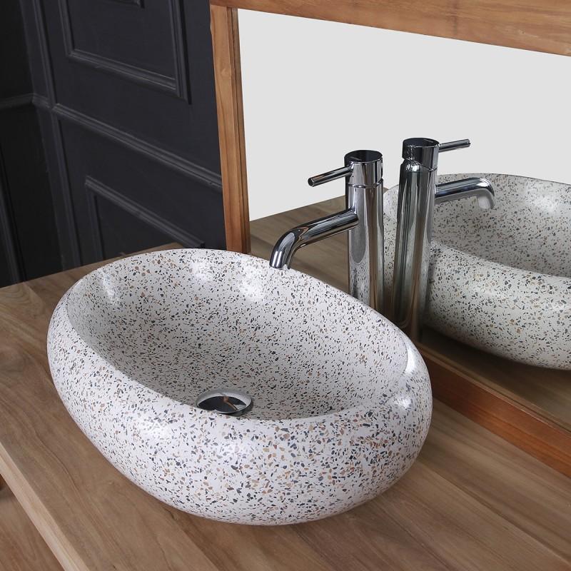 Vasque ovale Terrazzo Resin pop