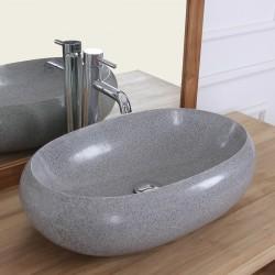 Vasque ovale Terrazzo Resin gris