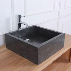 Vasque carrée Terrazzo Resin noir