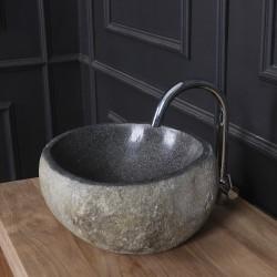 Vasque en pierre de rivière naturelle 30