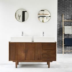 Meuble de salle de bain en bois de mindy 135 VINTAGE