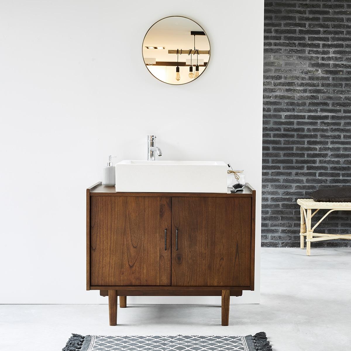 Meuble de salle de bain en bois de mindy 90 VINTAGE | Bois ...