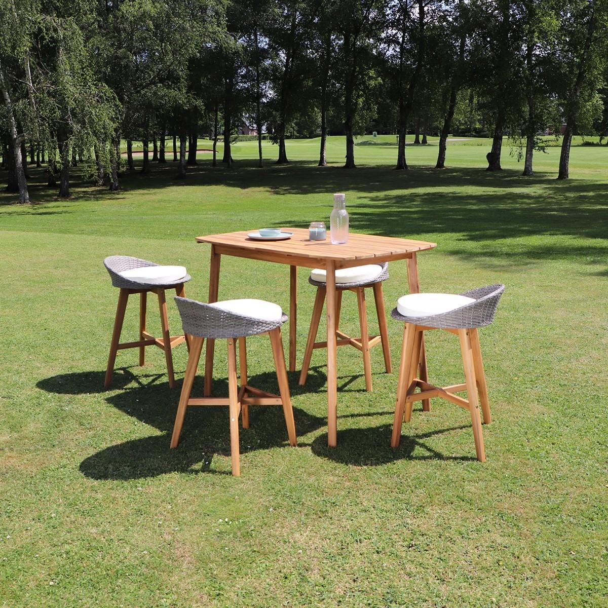 Salon de jardin haut en bois d\'acacia 4 places | Bois Dessus Bois ...